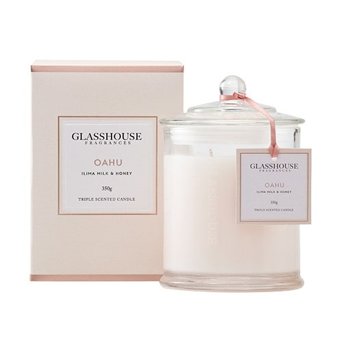 Glasshouse Oahu Candle - Ilima Milk & Honey 350g by Glasshouse Fragrances