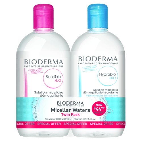 Bioderma H2O Micelle Solution 500ml Duo