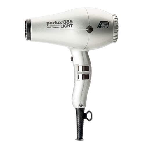 Parlux Power Light 385 Ionic & Ceramic Hairdryer - Silver  by Parlux