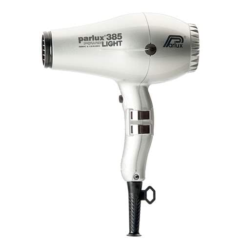 Parlux Power Light 385 Ionic & Ceramic Hairdryer - Silver