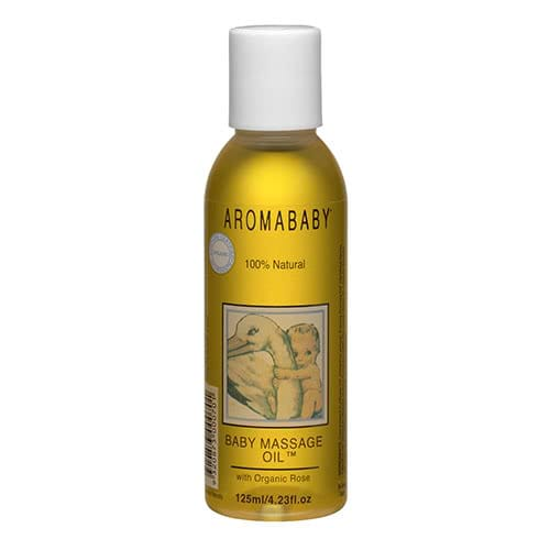 Aromababy Baby Massage Oil with Organic Lavender & Rose 125ml by Aromababy
