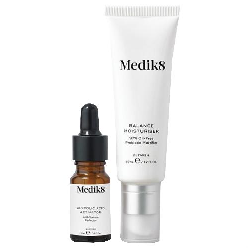 Medik8 Balance Moisturiser 50ml with Glycolic Acid Activator 5ml by Medik8