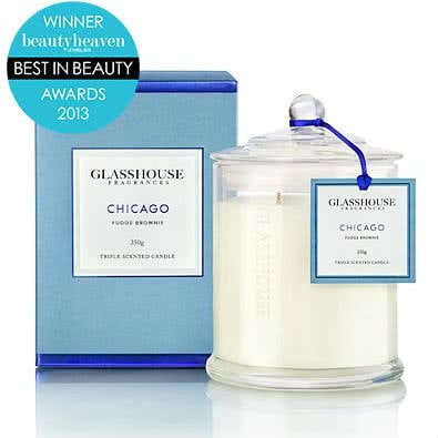 Glasshouse Chicago Candle - Fudge Brownie 350g  by Glasshouse Fragrances