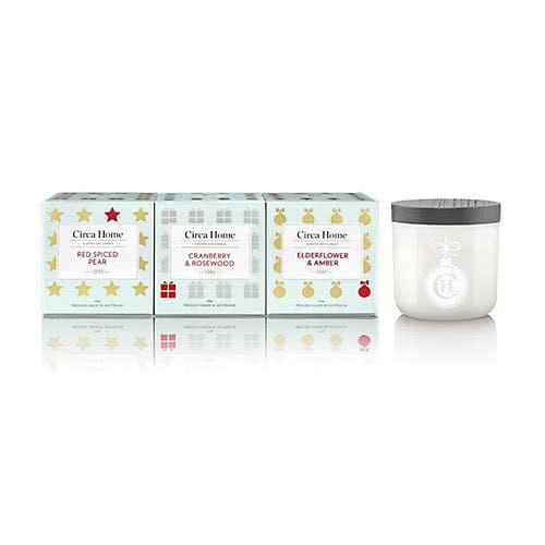 Circa Home Christmas Mini Candle Trio by Circa Home