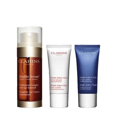 Clarins Double Serum 30mL + Multi-Active Gift Set