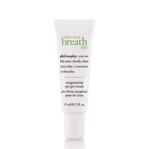 philosophy take a deep breath eye gel cream