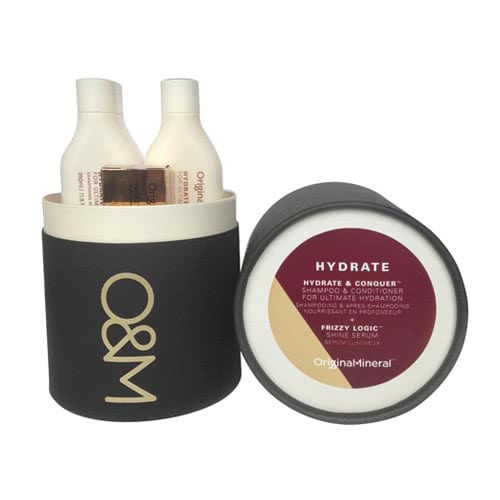 O&M Hydrate & Conquer + Frizzy Logic Cylinder Pack by O&M Original & Mineral