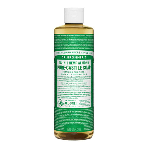 Dr. Bronner Castile Liquid Soap - Almond 473ml by Dr. Bronner's
