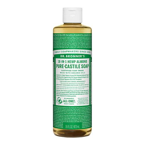 Dr. Bronner Castile Liquid Soap - Almond 473ml