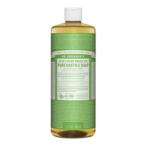Dr. Bronner Castile Liquid Soap - Green Tea 946ml by Dr. Bronner's