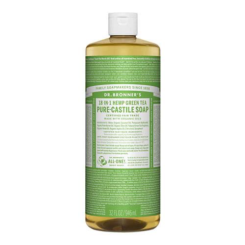 Dr. Bronner Castile Liquid Soap - Green Tea 946ml