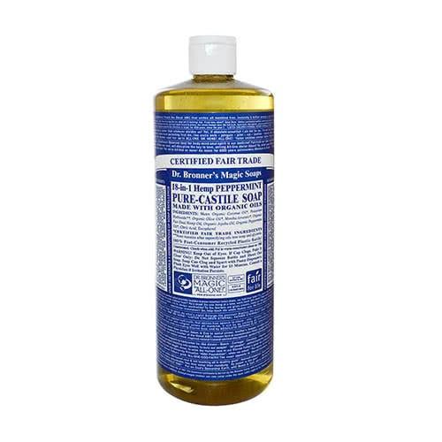 Dr. Bronner Castile Liquid Soap ? Peppermint 946ml