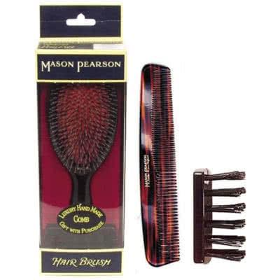 Mason Pearson Bristle/Nylon Jnr Brush w/ Comb BN2