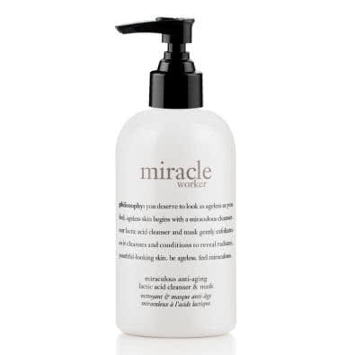 philosophy miracle worker miraculous anti-ageing lactic acid cleanser & mask