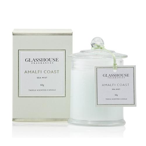 Glasshouse Amalfi Coast Mini Candle - Sea Mist 60g by Glasshouse Fragrances