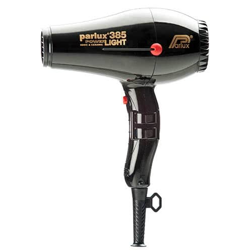 Parlux Power Light 385 Ionic & Ceramic Hairdryer - Black