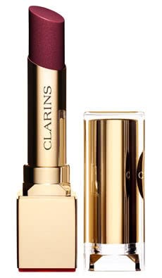 Clarins Rouge Eclat Satin Finish Age-Defying Lipstick-06 True Aubergine