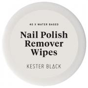 Kester Black Water-Based Nail Polish Remover Wipes - 40 pack