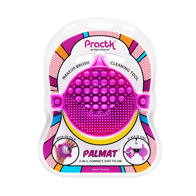 Palmat Makeup Brush Cleaning Tool - Purple by Practk by Sigma