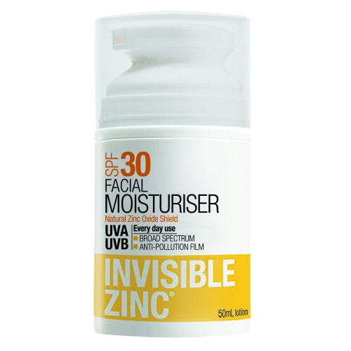 Invisible Zinc Facial Moisturiser SPF30+ by Invisible Zinc