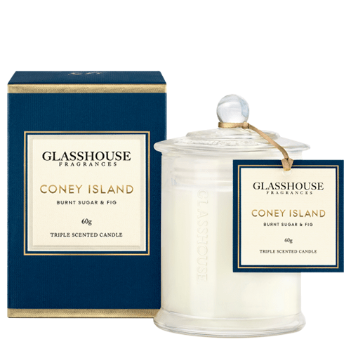 Glasshouse Coney Island Mini Candle - Burnt Sugar & Fig 60g