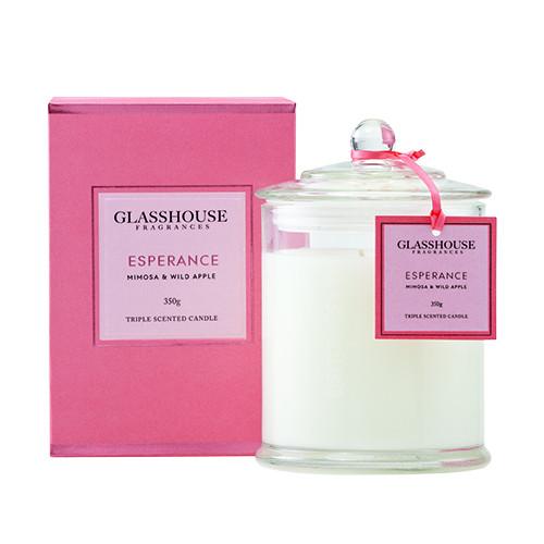 Glasshouse Esperance Candle - Mimosa & Wild Apple 350g