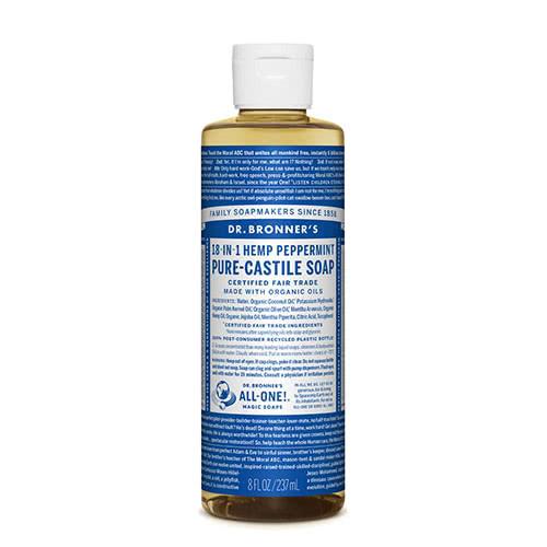 Dr. Bronner Castile Liquid Soap - Peppermint 237ml by Dr Bronner-s