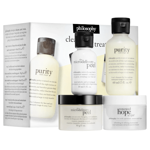 philosophy cleanse peel and treat set by philosophy