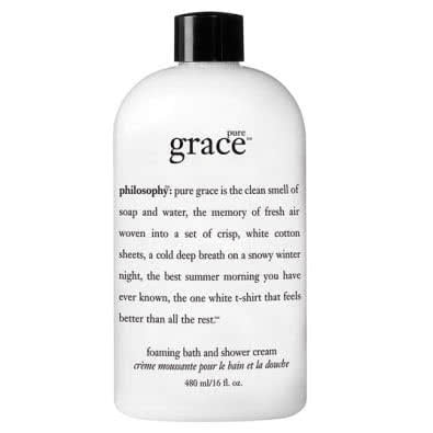 philosophy pure grace foaming bath & shower cream by philosophy