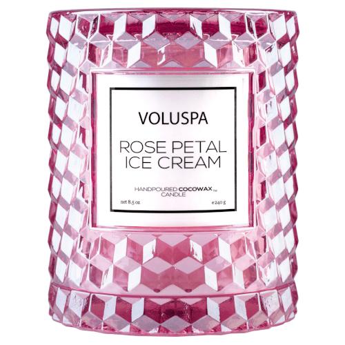 Voluspa Rose Petal Ice Cream Icon Cloche Candle by Voluspa
