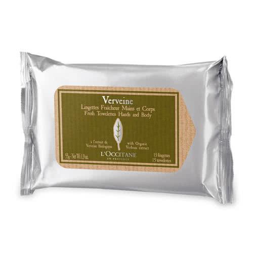 L'Occitane Verbena Fresh Towelettes for Hand & Body by L'Occitane