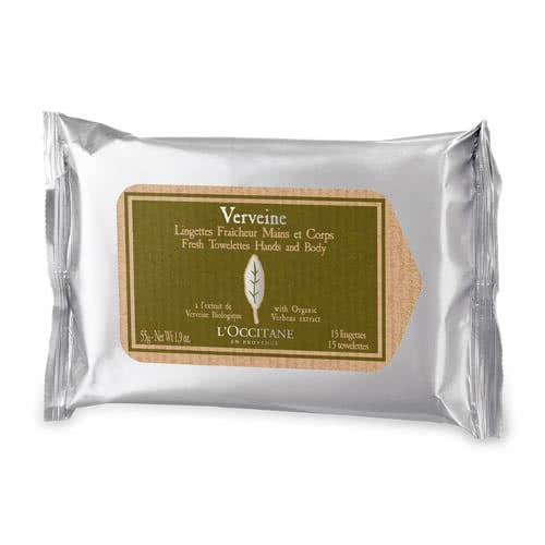 L'Occitane Verbena Fresh Towelettes for Hand & Body