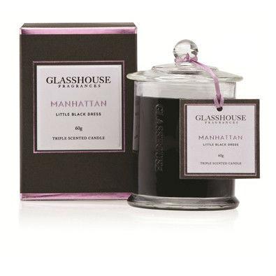 Glasshouse Manhattan Mini Candle - Little Black Dress 60g by Glasshouse Fragrances