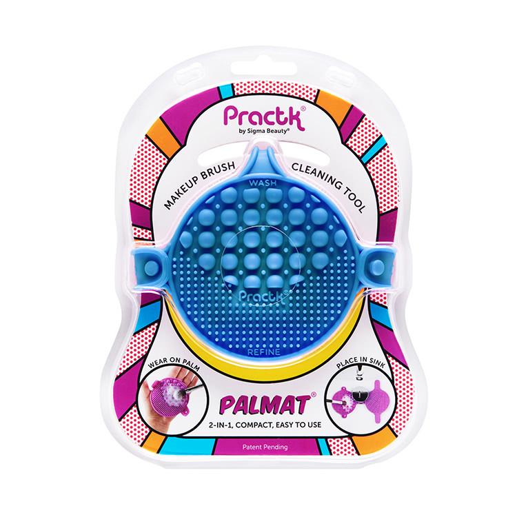 Palmat Makeup Brush Cleaning Tool - Blue by Practk by Sigma