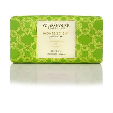 Glasshouse Montego Bay Nourishing Body Bar - Coconut Lime  by Glasshouse Fragrances