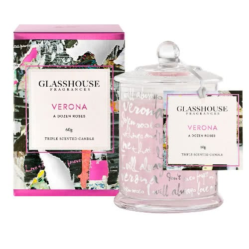Glasshouse Verona Candle - A Dozen Roses 60g by Glasshouse Fragrances