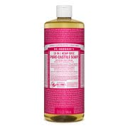 Dr. Bronner Castile Liquid Soap - Rose 946ml
