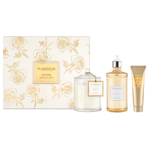 Glasshouse Kyoto Gift Set - Camellia & Lotus by Glasshouse Fragrances