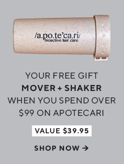 Your free gift when you spend over $99 on Apotecari - Mover + Shaker valued at $39.95. Shop now.