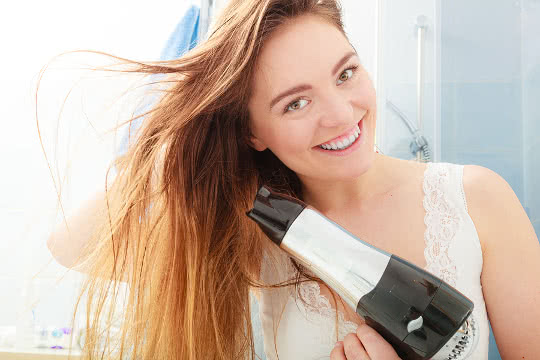 How can I minimise hair damage from using a hairdryer?
