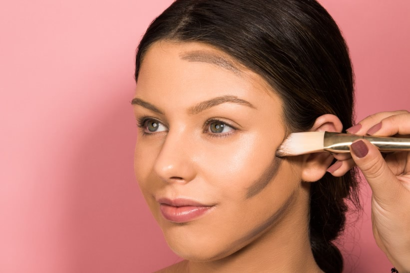 Right way contour highlight makeup your face shape